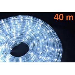 LED světelný kabel 40 m - studená bílá, 960 diod