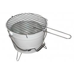 Mini BBQ gril vědro bílý