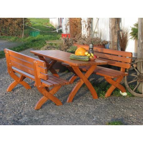Zahradní dřevěná lavice STRONG  160cm