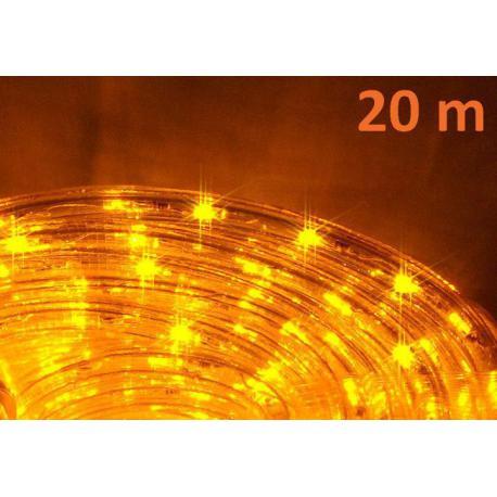 LED světelný kabel 20 m - žlutá, 480 diod