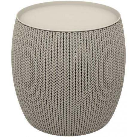 Moderní stoleček ve stylu KNIT  pískový