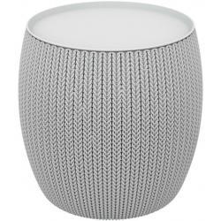 Moderní stoleček ve stylu KNIT šedý