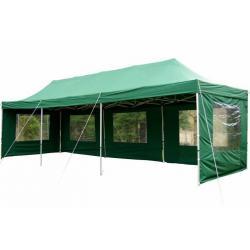 Zahradní skládací párty stan PROFI - zelený 3 x 9 m