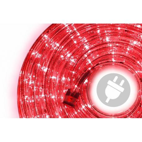 LED světelný kabel 20 m - červená, 480 diod