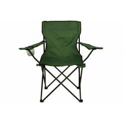 Skládací židle s držákem - zelená
