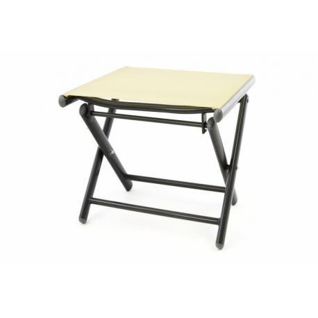 Skládací hliníková stolička - krémová