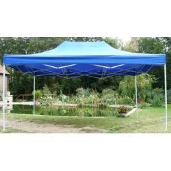 Zahradní párty stan CLASSIC nůžkový - 3 x 4,5 m modrý