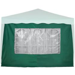 Boční stěna s trojdílným oknem - 3x3m - zelený
