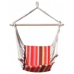 Houpačka Dimenza Dalian - červená s pruhy