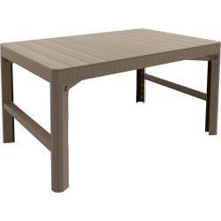 Zahradní plastový stůl LYON 116 x 72 cm - cappuchino