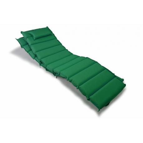 Sada 2x polstrování na lehátko Garthen - tmavě zelená