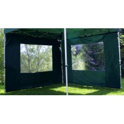 Sada 2 bočních stěn pro PROFI zahradní stan 3 x 3 m - zelená