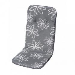 Polstrování na vysoké křeslo SCALA HOCH - šedá s květy 30200-700