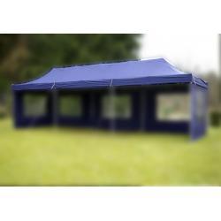 Náhradní střecha k párty stanu 3 x 9 m - modrá