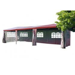 Zahradní stan - červený, 3 x 9 m