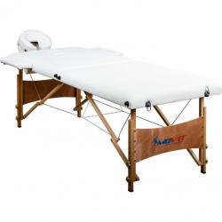 Přenosné masážní lehátko DELUXE MOVIT bílé 185 x 80 cm