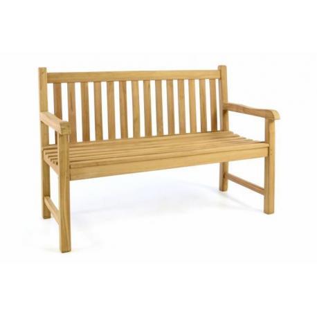 Zahradní lavice DIVERO - ošetřené týkové dřevo - 130 cm