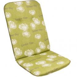 Sedák na vysoké křeslo SCALA HOCH zelená květina 30368-211