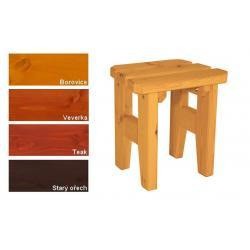 Zahradní dřevěná stolička Eduard - s povrchovou úpravou