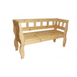 Zahradní RETRO lavice bez povrchové úpravy - 157 cm