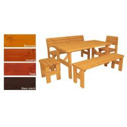 Zahradní dřevěný set Darina - s povrchovou úpravou