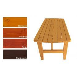 Zahradní dřevěný stůl I. - s povrchovou úpravou - 160 cm