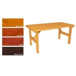 Zahradní dřevěný stůl II. - s povrchovou úpravou - 160 cm