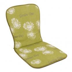 Sedák na nízké křeslo SAMOA zelená květina 30368-211