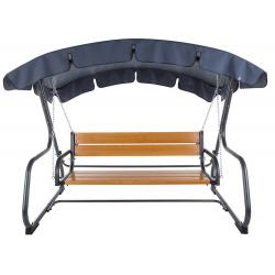 Zahradní kovová houpačka s dřevěnou sedačkou VERONA
