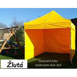 Zahradní párty stan PROFI STEEL 3 x 6 - žlutá