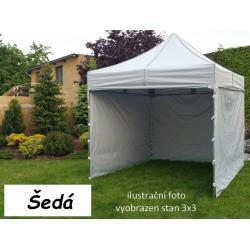 Zahradní párty stan PROFI STEEL 3 x 4,5 - šedá