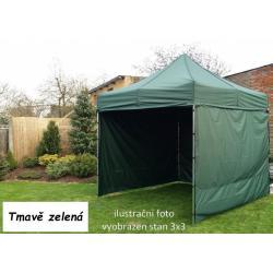 Zahradní párty stan PROFI STEEL 3 x 4,5 - tmavě zelená