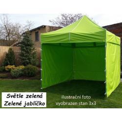Zahradní párty stan PROFI STEEL 3 x 4,5 - světle zelená