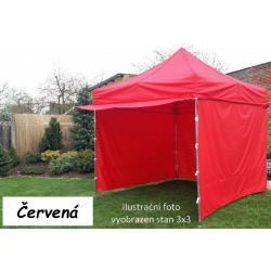 Zahradní párty stan PROFI STEEL 3 x 4,5 - červená