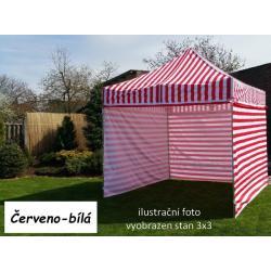 Zahradní párty stan PROFI STEEL 3 x 4,5 - červeno-bílá