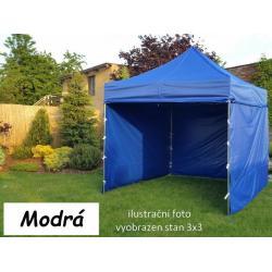 Zahradní párty stan PROFI STEEL 3 x 4,5 - modrá