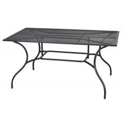 Zahradní kovový stůl ZWMT-83 - obdélník 90 x 150 cm