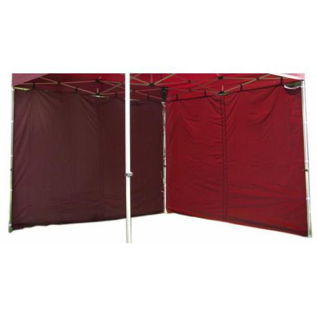 Sada 2 bočních stěn pro PROFI zahradní stan 3 x 3 m - vínová