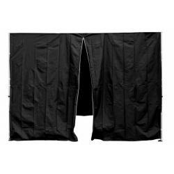 Sada 2 bočních stěn pro PROFI zahradní stan 3 x3 m černá