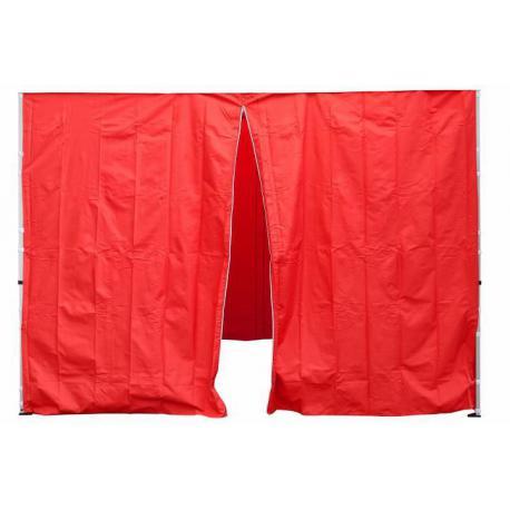 Sada 2 bočních stěn pro PROFI zahradní stan 3 x3 m červená
