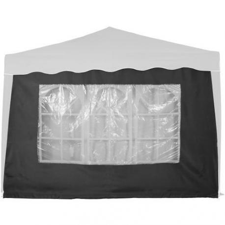 Boční stěna s trojdílným oknem - 3x3m - antracit